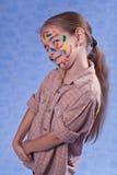 Piccolo pittore sbavato di inchiostro Fotografia Stock