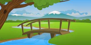 Piccolo ponte di legno Fotografie Stock