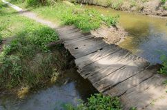 Piccolo ponte di legno immagini stock libere da diritti