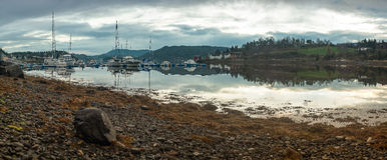 Piccolo porto Fotografia Stock