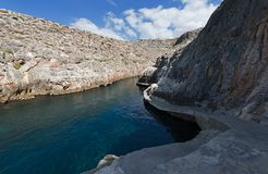 Piccolo porto del iz-Zurrieq di Weid, Malta fotografie stock