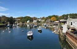 Piccolo porto della Nuova Inghilterra Fotografie Stock Libere da Diritti
