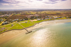 Piccolo porto di pesca rurale in Australia Immagini Stock
