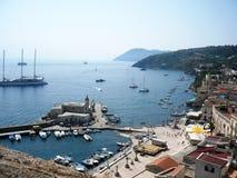 Piccolo porto Mediterraneo Fotografia Stock Libera da Diritti