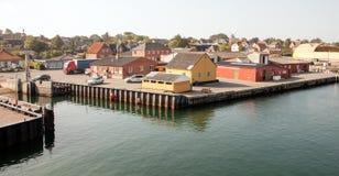 Piccolo porto sull'isola aerea, Danimarca Fotografie Stock Libere da Diritti