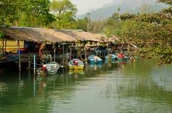 Piccolo porto tailandese Immagini Stock Libere da Diritti