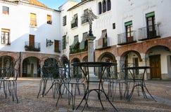 Piccolo quadrato di Zafra, Badajoz, Spagna Fotografia Stock