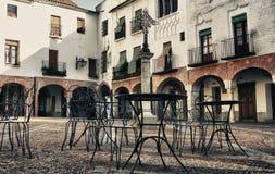 Piccolo quadrato di Zafra, Badajoz, Spagna Immagine Stock