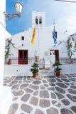 Piccolo quadrato in Mykonos Immagini Stock