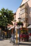 Piccolo quadrato nel centro della città di Fussen in Baviera (Germania) Fotografia Stock
