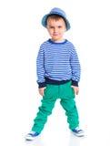 Piccolo ragazzo alla moda Fotografie Stock Libere da Diritti