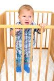 Piccolo ragazzo arrabbiato Immagini Stock