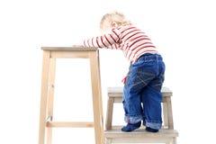Piccolo ragazzo biondo Immagini Stock Libere da Diritti