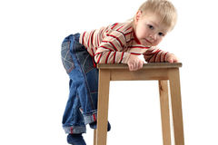Piccolo ragazzo biondo Fotografia Stock Libera da Diritti
