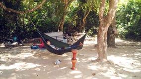 Piccolo ragazzo che riposa in hammock Fotografie Stock