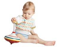 Piccolo ragazzo con un giocattolo Immagini Stock Libere da Diritti