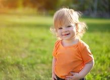 Piccolo ragazzo felice Fotografie Stock Libere da Diritti