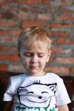 Piccolo ragazzo serio Fotografie Stock