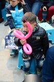 Piccolo ragazzo timido Immagini Stock Libere da Diritti
