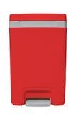 Piccolo recipiente rosso isolato Fotografia Stock