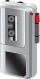Piccolo registratore di suoni tenuto in mano Fotografie Stock