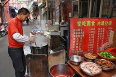 Piccolo ristorante all'aperto all'aperto, Shanghai, Cina Immagini Stock Libere da Diritti