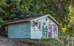 Piccolo ristorante in San Carlos de Bariloche immagine stock libera da diritti