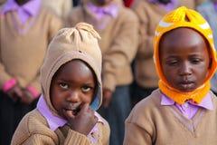Piccolo ritratto africano dei ragazzi di scuola Immagini Stock Libere da Diritti
