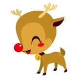 Piccolo Rudolph Reindeer sveglio Immagini Stock