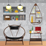 Piccolo salone decorato Fotografia Stock Libera da Diritti