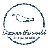 Piccolo San Salvador Island Map Outline Fotografie Stock Libere da Diritti