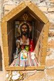 Piccolo santuario cattolico sulla parete del Vaticano Fotografia Stock