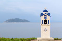 Piccolo santuario ortodosso della chiesa Fotografia Stock Libera da Diritti