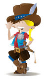 Piccolo sceriffo del Cowgirl Fotografia Stock Libera da Diritti