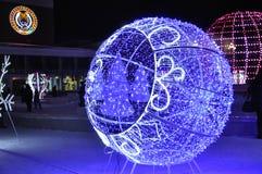 Piccolo schizzo luminoso di notte di Natale Fotografie Stock Libere da Diritti