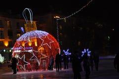 Piccolo schizzo luminoso di notte di Natale Fotografia Stock