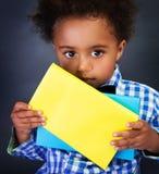Piccolo scolaro americano Fotografia Stock Libera da Diritti