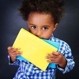 Piccolo scolaro americano Fotografie Stock Libere da Diritti