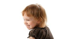 Piccolo sorriso felice della ragazza un felice e una risata Immagine Stock Libera da Diritti