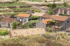 Piccolo stabilimento sull'isola di Gomera, Spagna Fotografia Stock