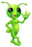 Piccolo straniero dell'uomo verde Fotografia Stock Libera da Diritti