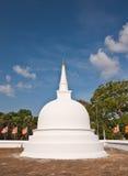 Piccolo stupa bianco Fotografia Stock Libera da Diritti