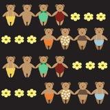 Piccolo Teddy Bears sveglio Fotografie Stock