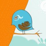 Piccolo uccello blu sveglio royalty illustrazione gratis