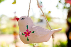 Piccolo uccello ceramico Fotografia Stock Libera da Diritti