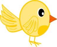 Piccolo uccello giallo Fotografia Stock