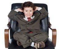 Piccolo uomo d'affari Fotografia Stock