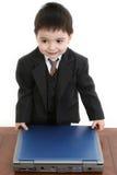 Piccolo uomo d'affari adorabile Fotografie Stock Libere da Diritti