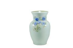 Piccolo vaso isolato della porcellana Fotografia Stock