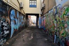 Piccolo vicolo ad Adelaide Street a Perth, Australia fotografie stock libere da diritti